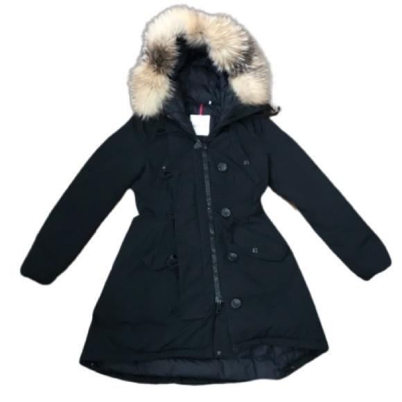 701c7bde5 Moncler Arriette Fur Trimmed Coat, Black, size 2